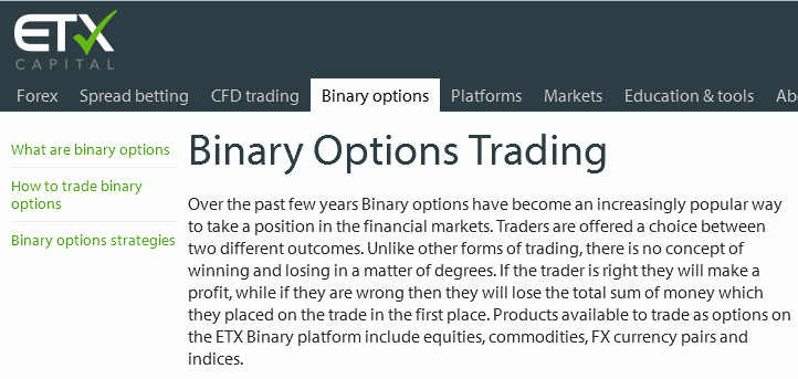 Binary options and forex brokers