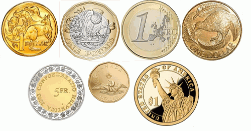 Major Currency Coins