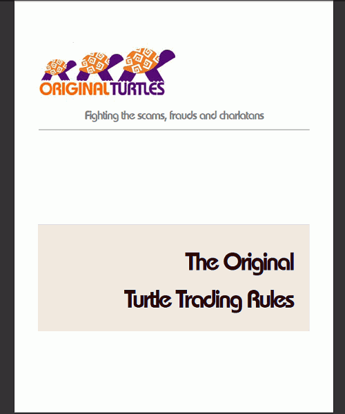 Ebook Turtle Trading Rules