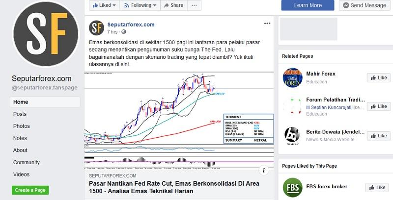 Akun Facebook Seputarforex